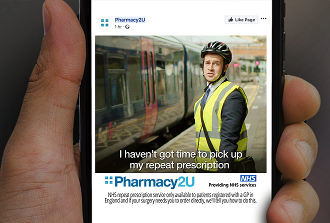 Pharmacy2u Social Media Adverts